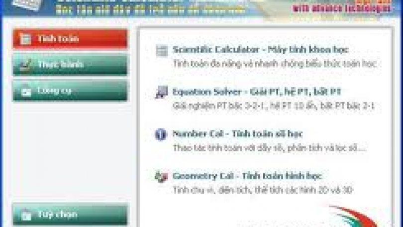 Phần mềm hỗ trợ tính toán và thực hành trong học tập và dạy học.