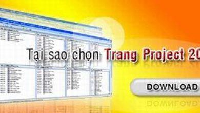 Quản lý dự án thiết kế xây dựng từ một điểm với Trang Project 2008