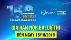 Gia hạn nộp bài dự thi Giải thưởng Nhân tài Đất Việt đến ngày 15/10/2019