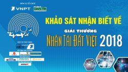 Khảo sát nhận biết Giải thưởng Nhân tài Đất Việt năm 2018
