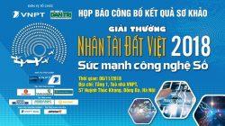 """Sắp công bố kết quả sơ khảo """"Giải thưởng Nhân tài Đất Việt 2018"""""""