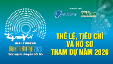 Thể lệ, tiêu chí và hồ sơ tham dự Giải thưởng Nhân tài Đất Việt 2020