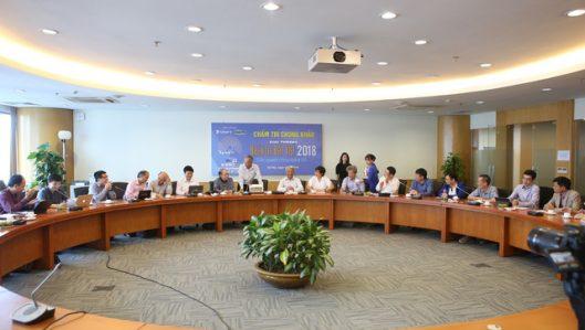 Đang chấm Chung khảo Nhân tài Đất Việt 2018 lĩnh vực CNTT
