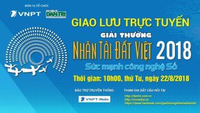 10h sáng mai giao lưu trực tuyến Giải thưởng Nhân tài Đất Việt 2018